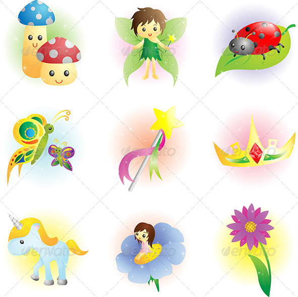GraphicRiver Fantasy Fairy Icons 6100393