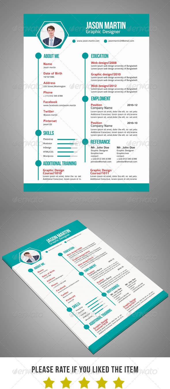 GraphicRiver Resume V2 6075334