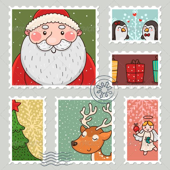 GraphicRiver Christmas Stamp 6100534