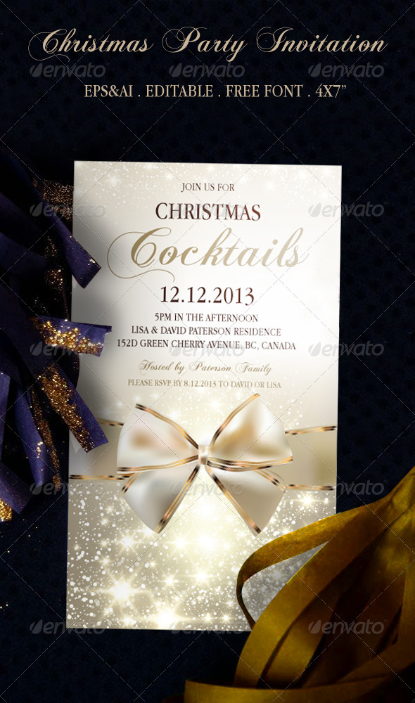 GraphicRiver Christmas Party Invitation 1 6064281