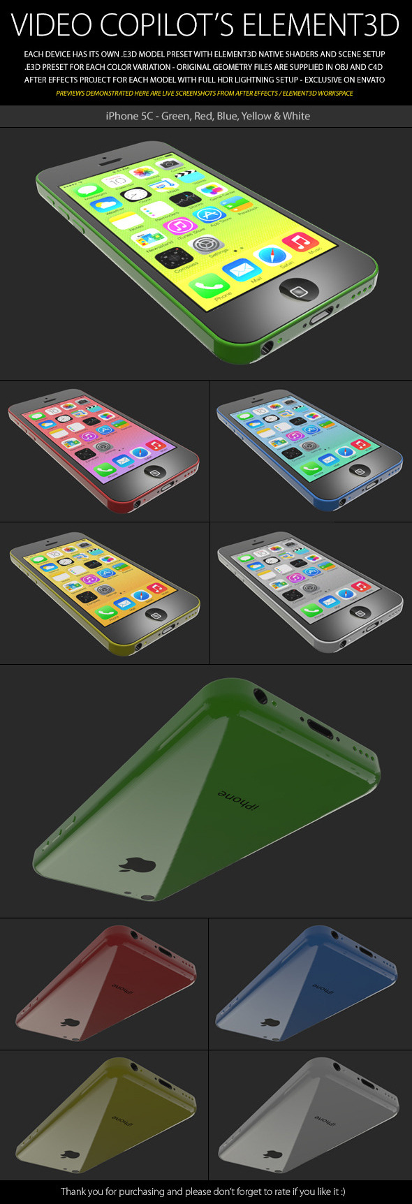 Element3D iPhone 5C