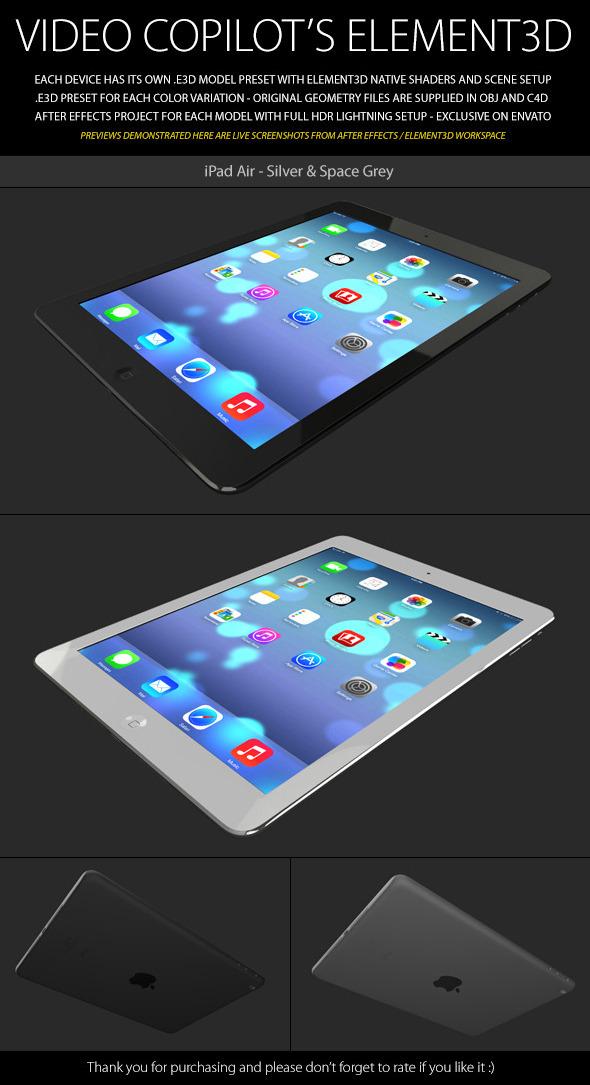 3DOcean Element3D iPad Air 6102079