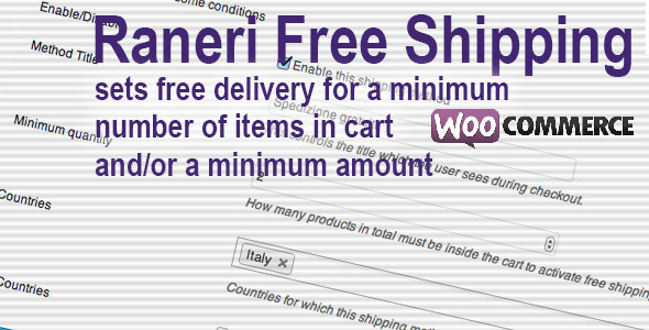 Conditional Free Shipping - WooCommerce Plugin - CodeCanyon Item for Sale