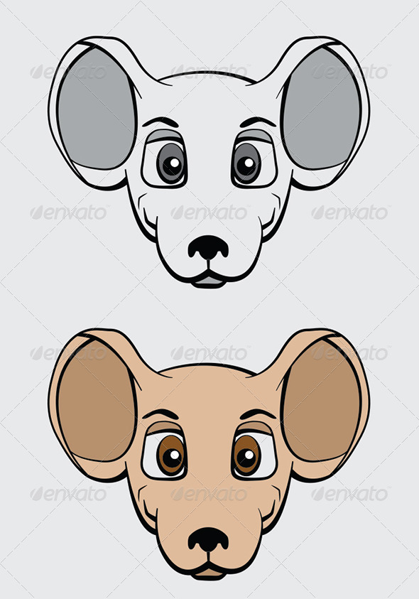 Cartoon Mouse Character Vector Illustration