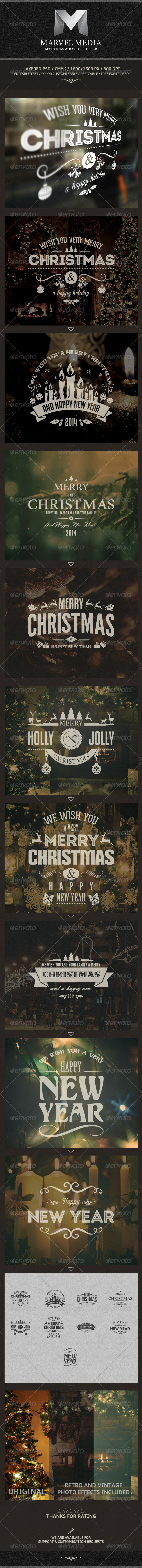 GraphicRiver Christmas And New Year Labels 6102211
