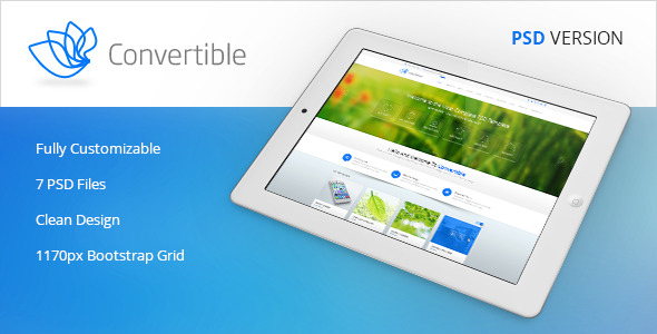 Convertible - Premium Multipurpose PSD Template