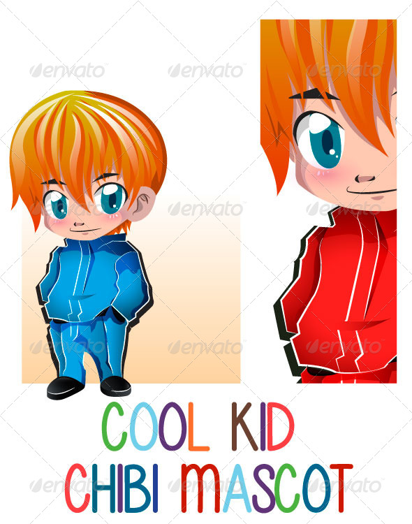GraphicRiver Cool Kid Chibby Mascot 6081266