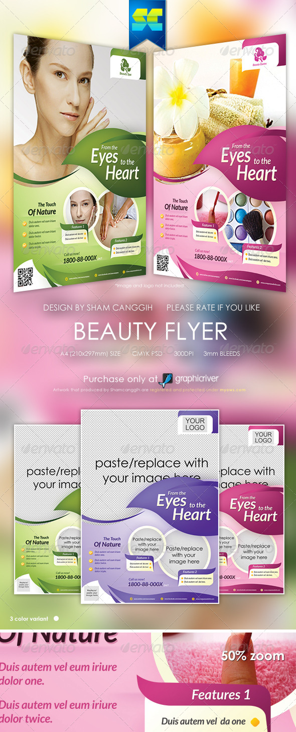 Modern Beauty Flyer / Magazine Ads - Corporate Flyers