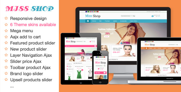 Miss Shop - Responsive Magento Theme