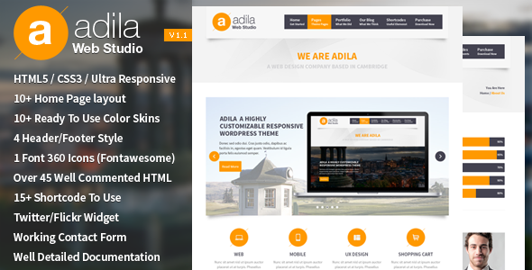 Adila Multipurpose Business HTML Template