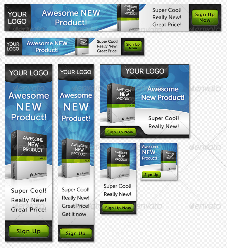 Product-Centered Web Banner Pack