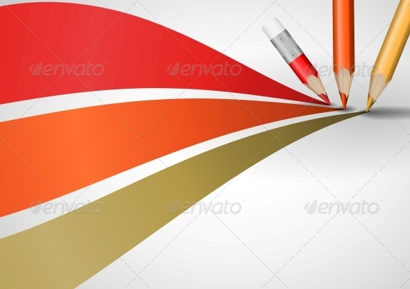 GraphicRiver Colour Pencils Drawing Lines 6103393