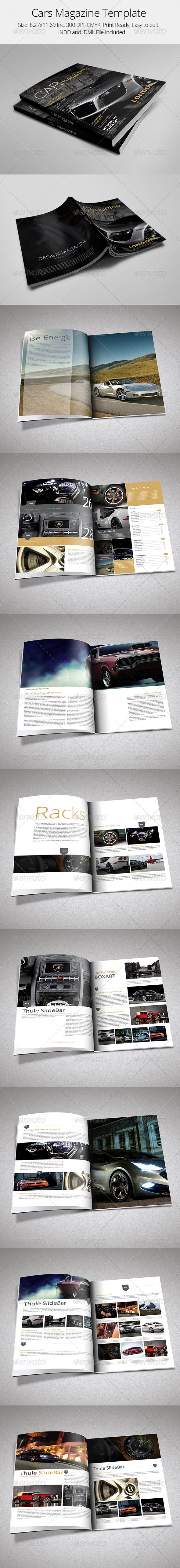 GraphicRiver Cars Magazine Template 6103404