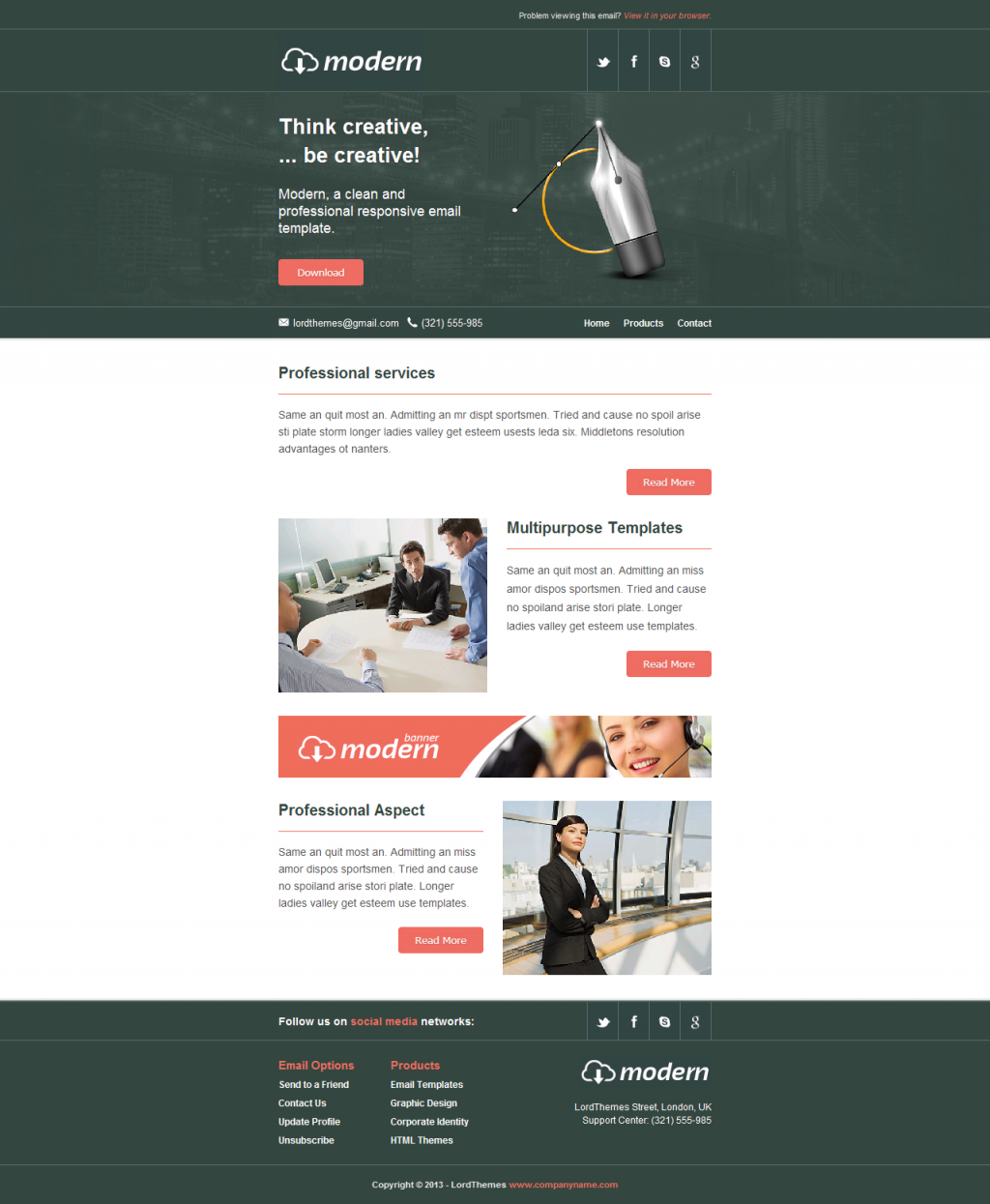 Modern - Responsive Email Template