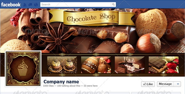 GraphicRiver Chocolate Shop Facebook Timeline 6103585