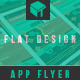 Flat Mobile App Promo Flyer - GraphicRiver Item for Sale