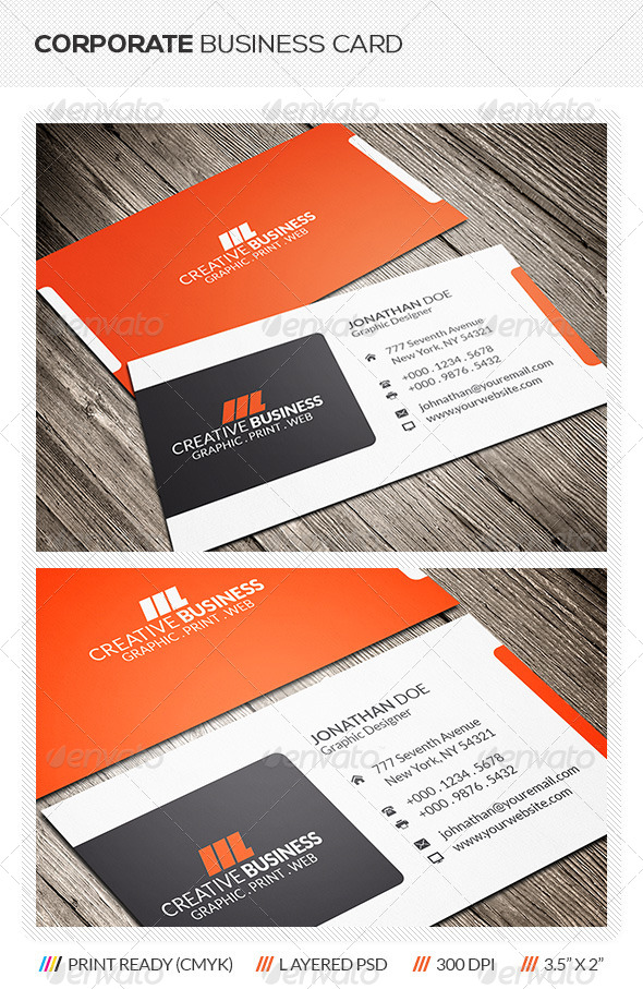 GraphicRiver Corporate Business Card 6103775