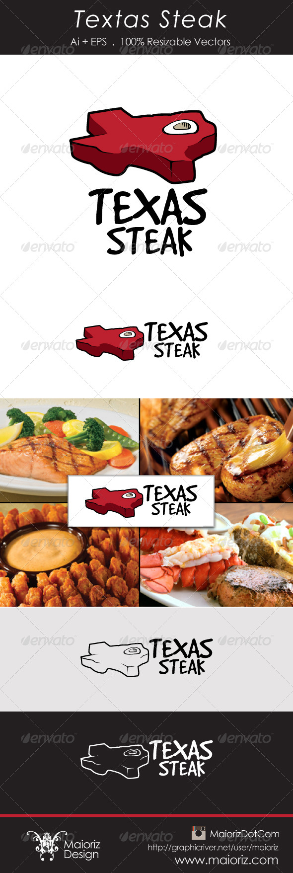 GraphicRiver Texas Steak Logotype 6103777