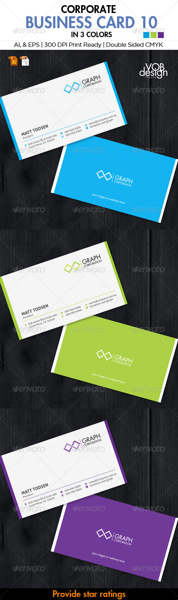 GraphicRiver Corporate Business Card 10 6103897