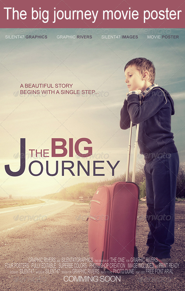 GraphicRiver The Big Journey Movie Poster 6104079