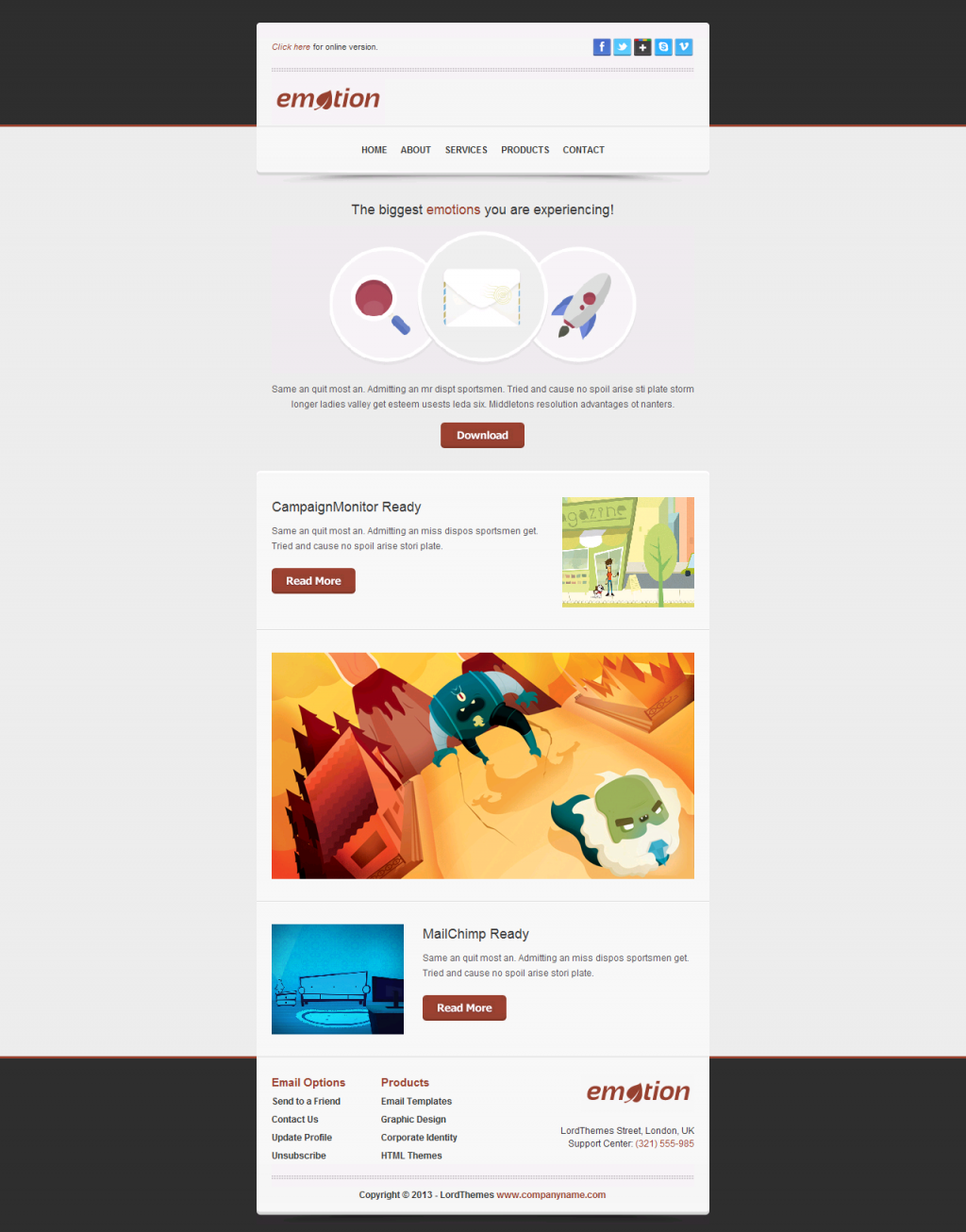 Emotion - Responsive Email Template