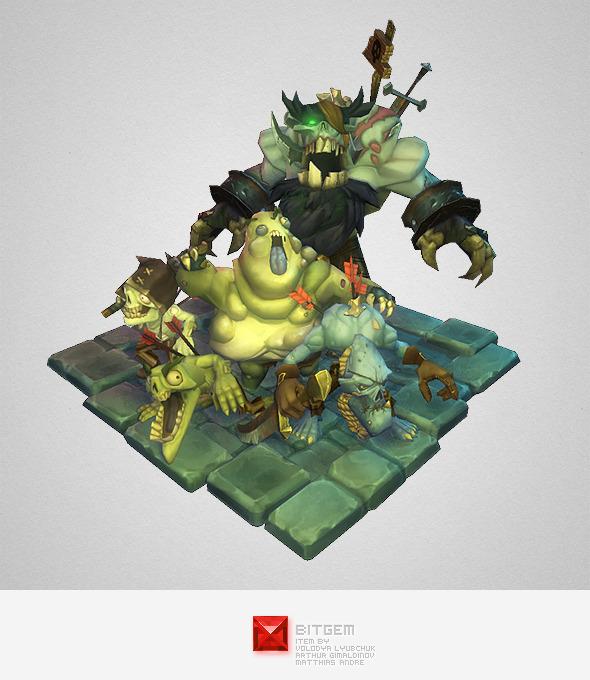 3DOcean Low Poly Zombie Crew 6104240