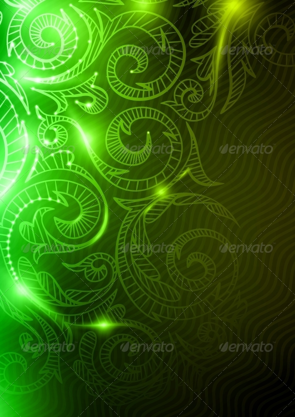 GraphicRiver Neon Pattern Background 6104526
