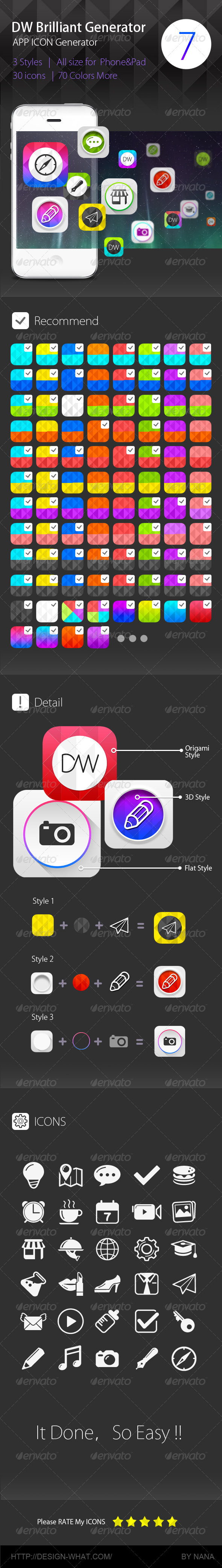 GraphicRiver DW Brilliant ICON Generator 6000502