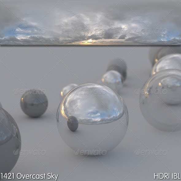 HDRI IBL 1421 Overcast Sky - 3DOcean Item for Sale