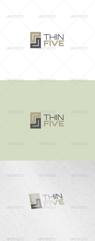 GraphicRiver Thin Five Logo 6105235