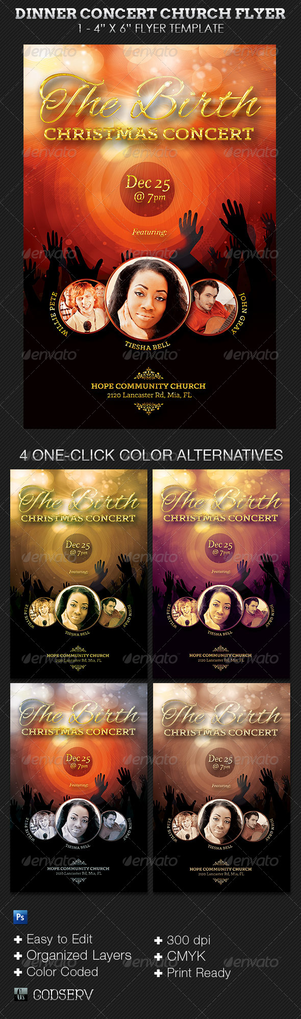 GraphicRiver The Birth Christmas Concert Flyer 6100714