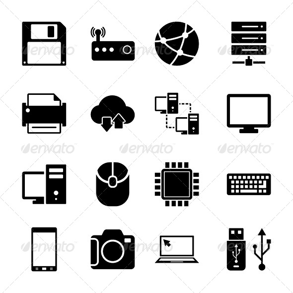 GraphicRiver Technology Icons Set 6064148