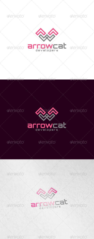 GraphicRiver Arrow Cat Logo 6106630