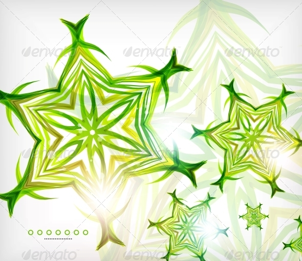 GraphicRiver Green Abstract Eco Wave Swirls with Lights 6106782