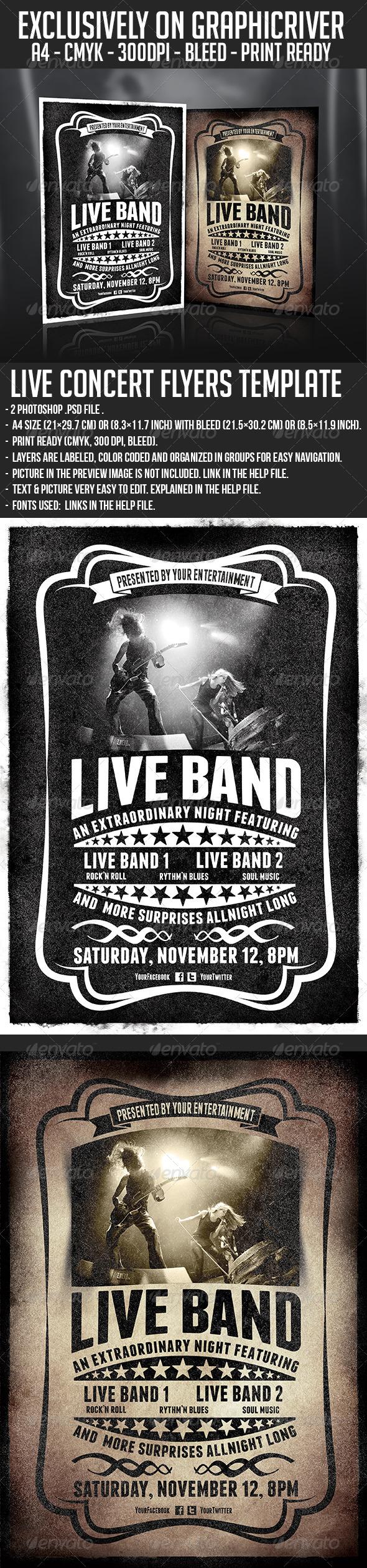 GraphicRiver Live Concert Flyer Templates 2x1 6107165