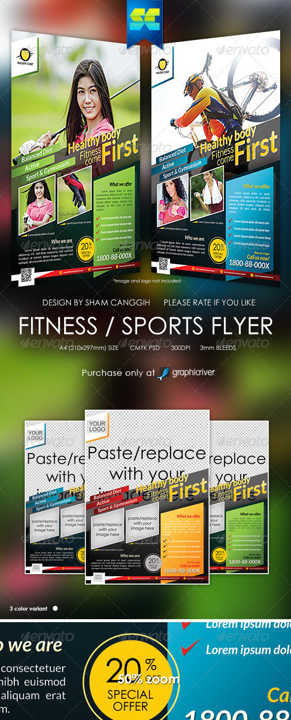Modern Fitness & Sport Flyer / Magazine Ads - Sports Events