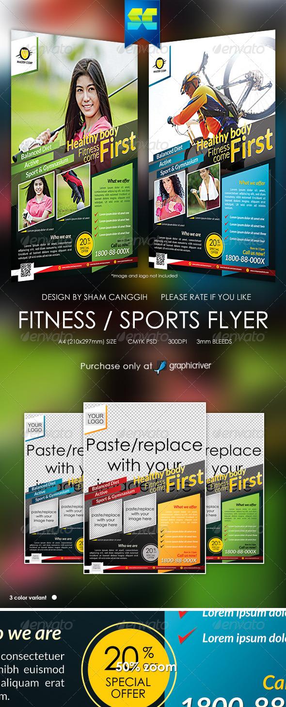 GraphicRiver Modern Fitness & Sport flyer magazine ads 6107207