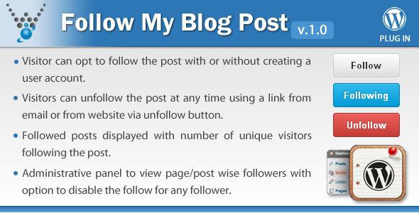 CodeCanyon Follow My Blog Post WordPress Plugin 6107586