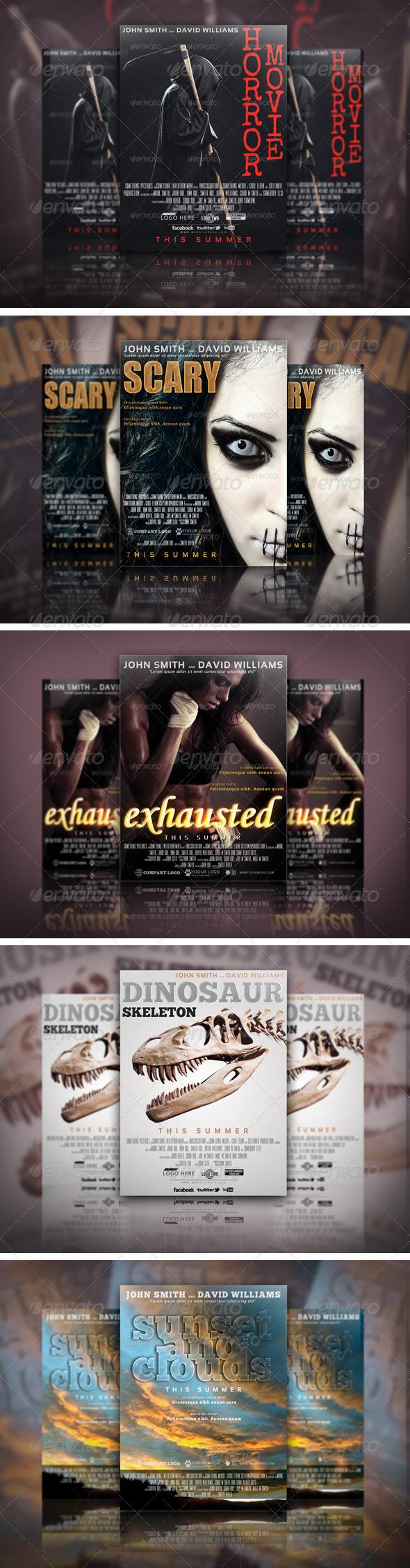 Movie Poster Template Bundle 01