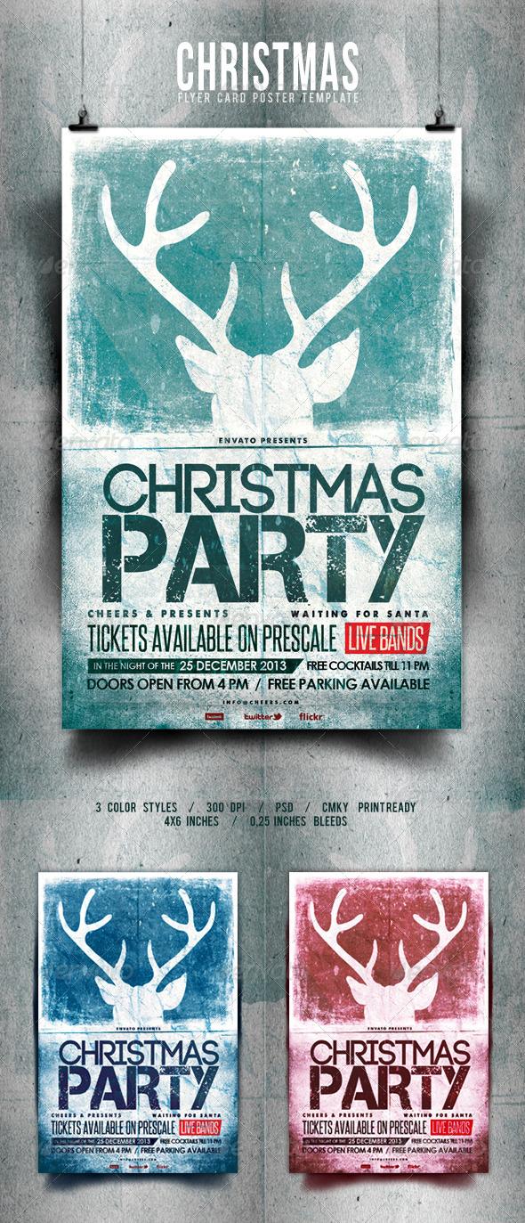 GraphicRiver Christmas Flyer Poster Retro Vol.5 6102609