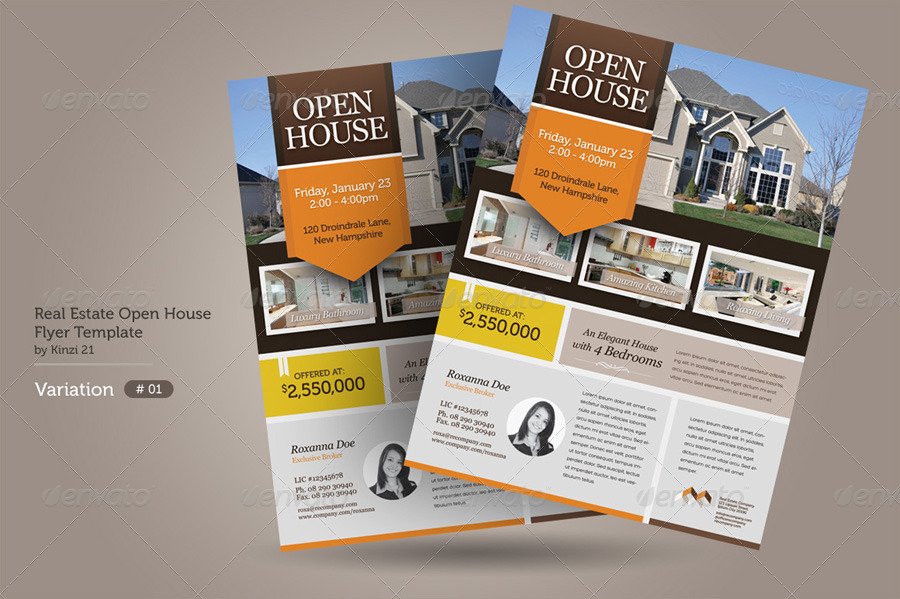 Real Estate Open House Flyers by kinzi21 – Real Estate Open House Flyer Template