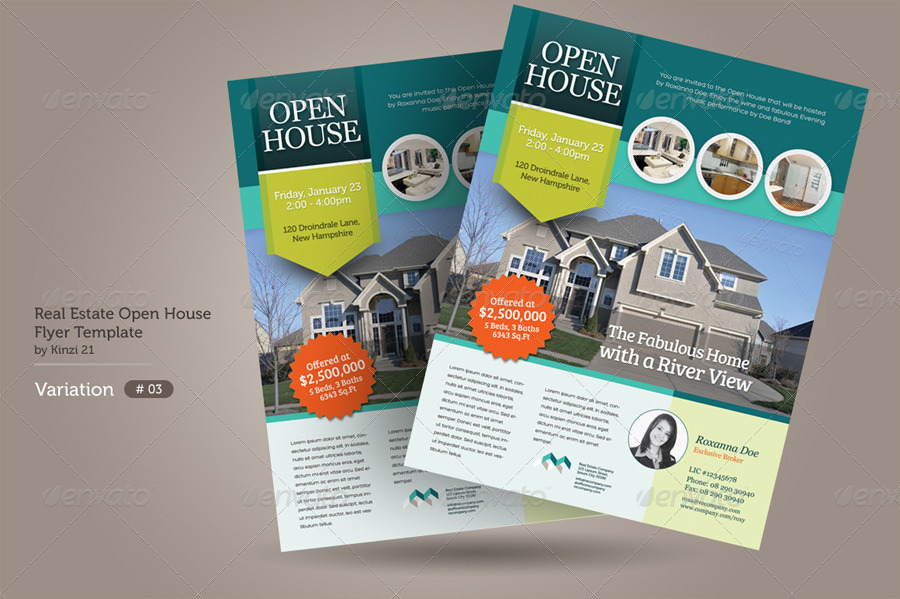 Real Estate Open House Flyers by kinzi21 – Open House Flyer