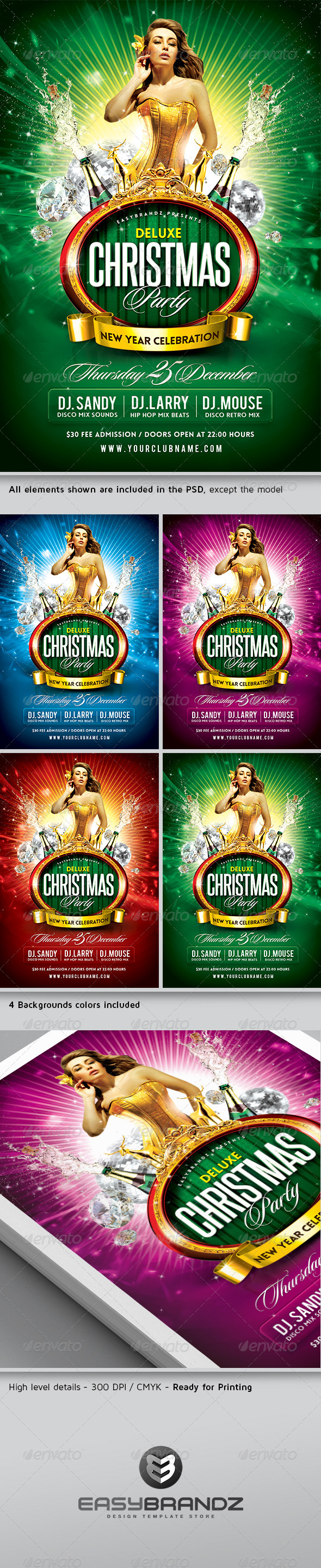 GraphicRiver Deluxe Christmas Party Flyer Template 6108499