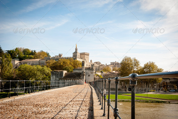 Bridge Saint-Benezet, Avignon, France - Stock Photo - Images