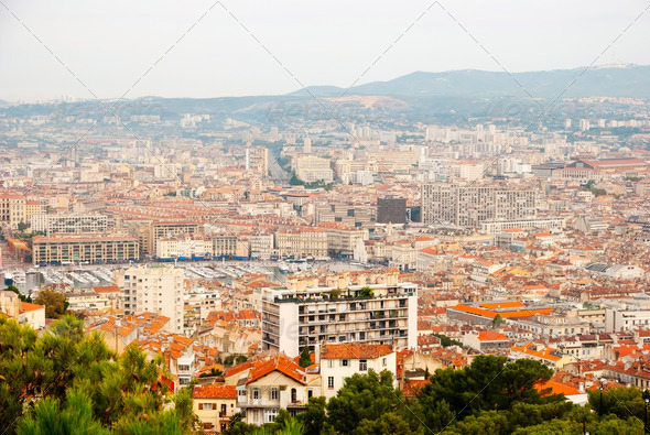 View over Marseille, France - Stock Photo - Images