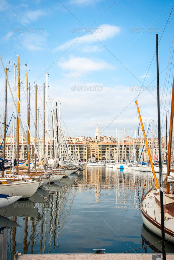 Harbour - Vieux Port of Marseille - Stock Photo - Images