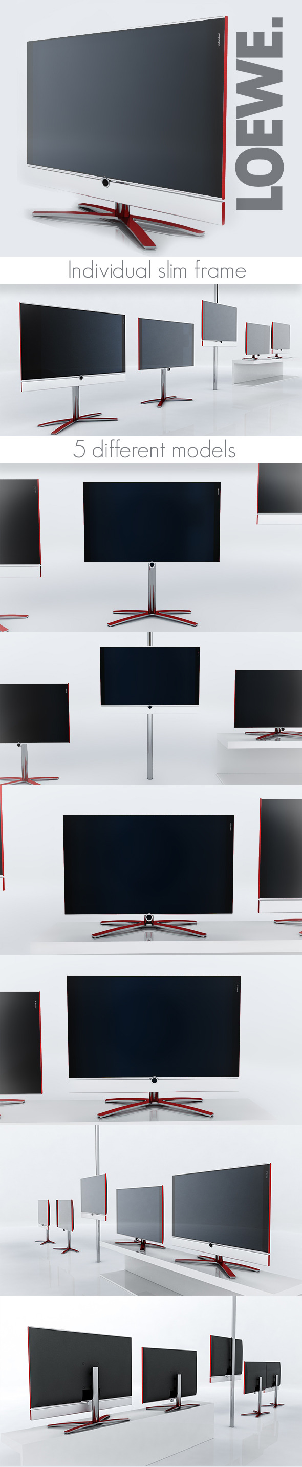 Loewe Individual TV - 3DOcean Item for Sale