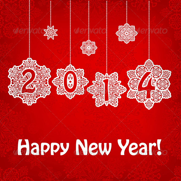 GraphicRiver Vector New 2014 Year Greeting Card 6109208