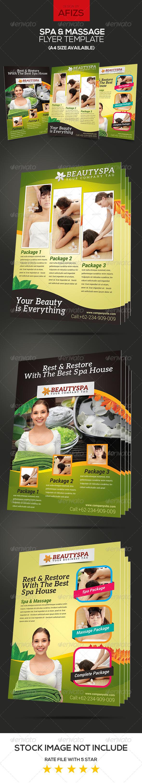GraphicRiver Spa & Massage Flyer 6109259