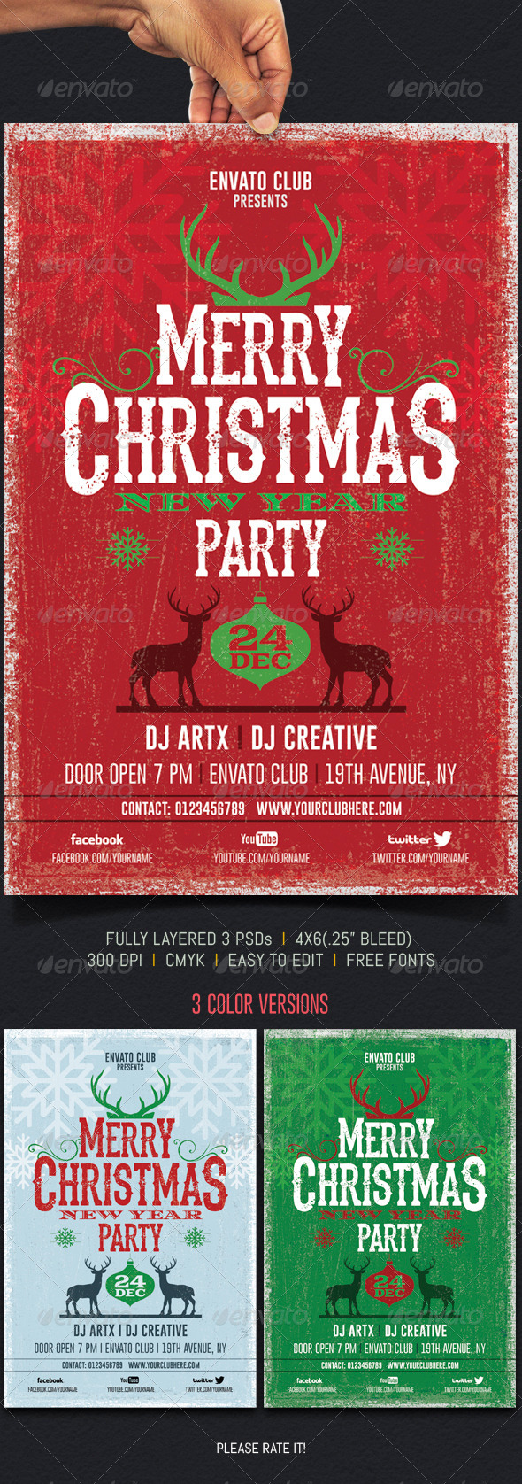 Christmas Party - Events Flyers